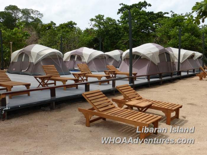 Tents at Walai Penyu Resort