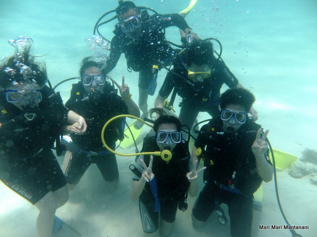 PADI scuba dive students