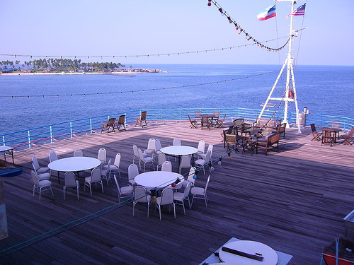 Dine by the deck!