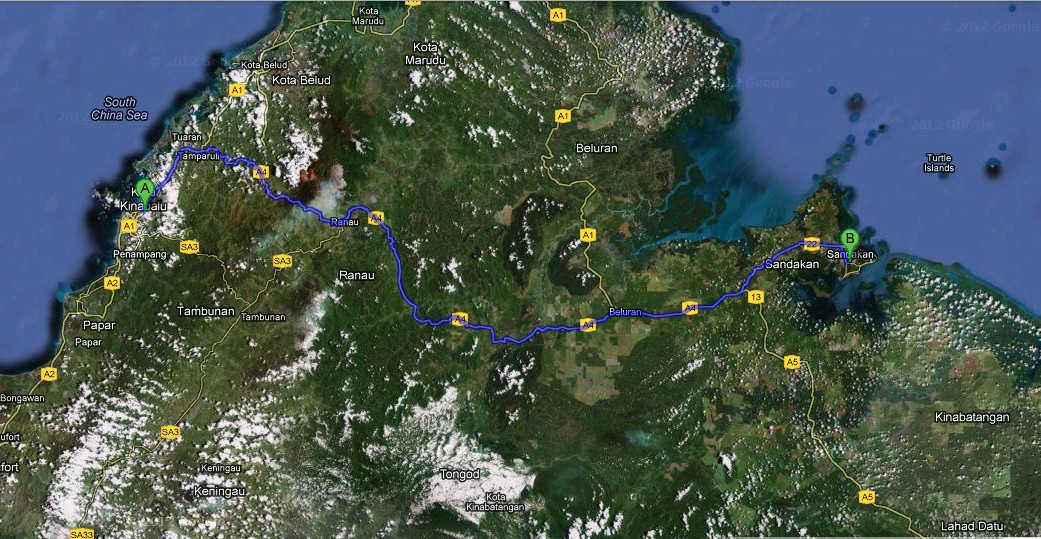 7 Days 6 Nights Kota Kinabalu to Sandakan
