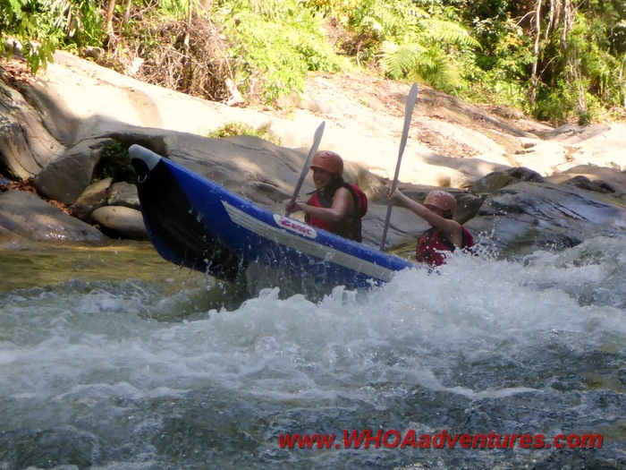 Inflatable Kayak Fun in Gopeng