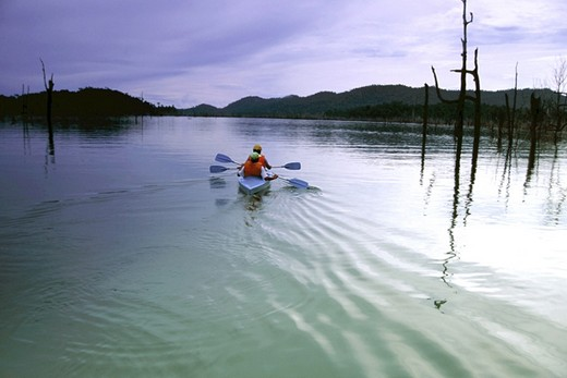 Kayak at Kenyir Lake